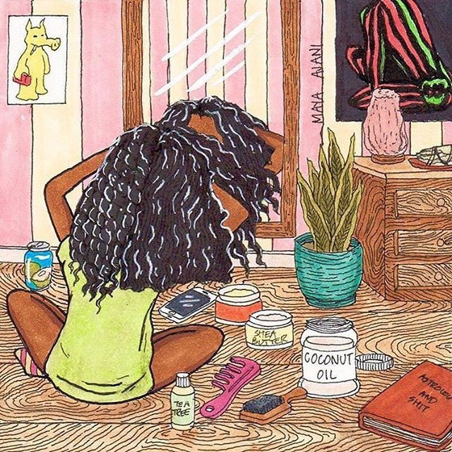 Using coconut, tea tree, and, Shea butter oil for curly hair