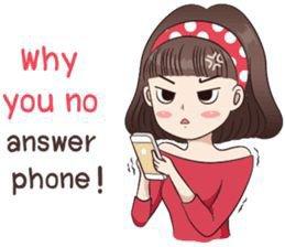 Angry girl on phone