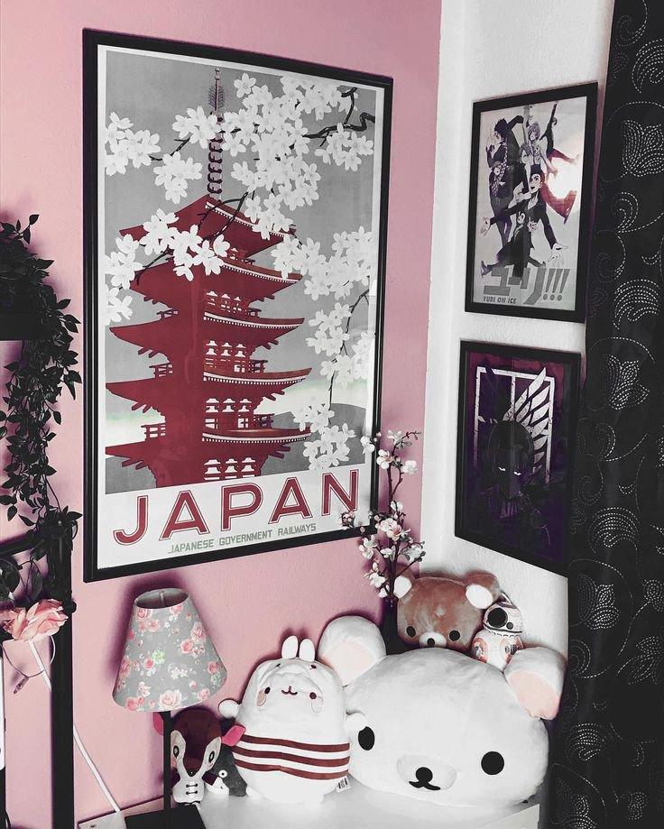 Japanese Kawaii inspired room decor