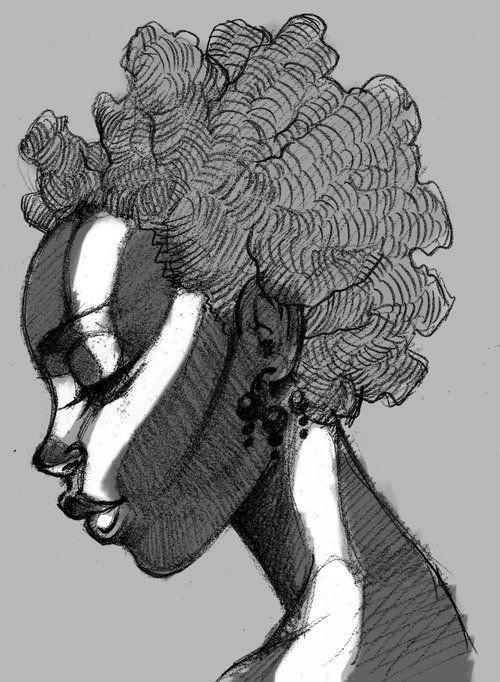 African beauty portrait